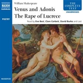 Audiobook Venus & Adonis, The Rape of Lucrece  - author William Shakespeare   - read by A group of actors