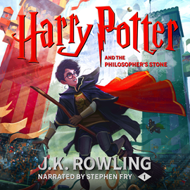 Hörbuch Harry Potter and the Philosopher's Stone  - Autor J.K. Rowling   - gelesen von Stephen Fry