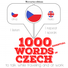 Hörbuch 1000 essential words in Czech  - Autor JM Gardner   - gelesen von Katie H Mercurius