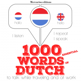 Hörbuch 1000 essential words in Dutch  - Autor JM Gardner   - gelesen von Katie H Mercurius