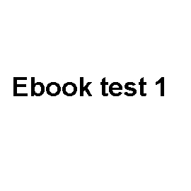 Audiobook Ebook test 1