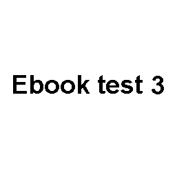 Audiobook Ebook test 3